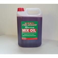 OLIO 2T MISCELA MIX OIL 2T ROSSO X MOTOSEGA DECESPUGLIATORE DA 5 LT