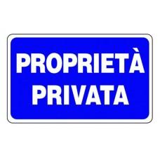 CARTELLO SEGNALE DI PLASTICA PROPRIETA' PRIVATA MM.300X200