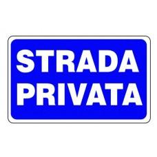 CARTELLO SEGNALE DI PLASTICA STRADA PRIVATA MM.300X200